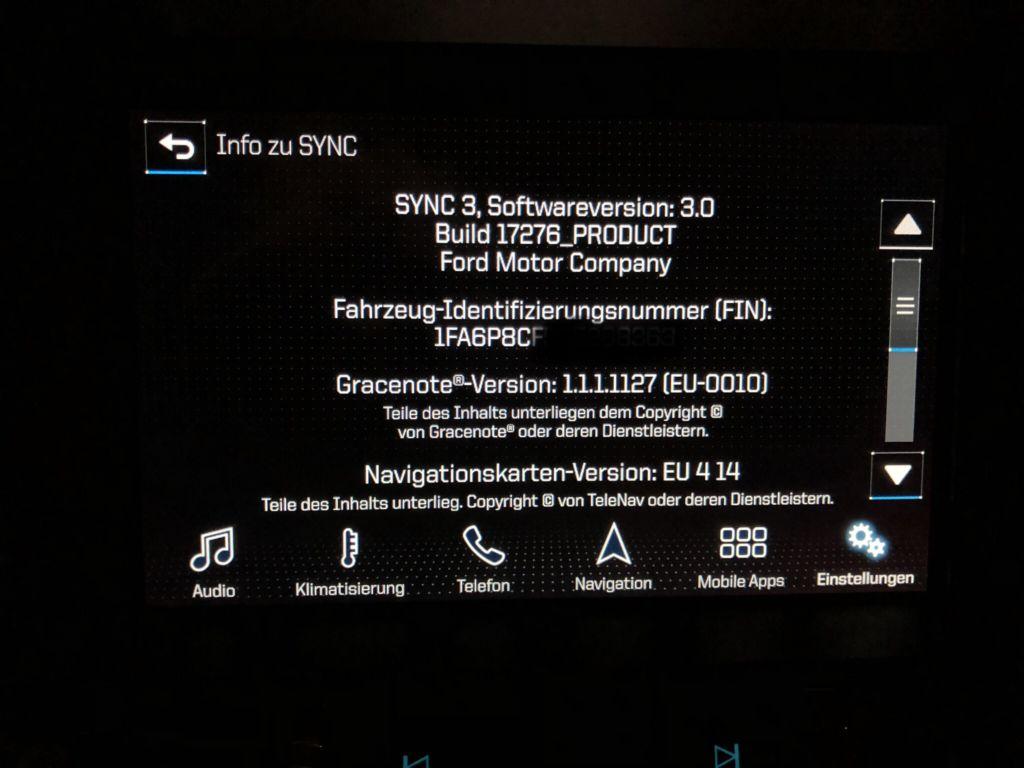 Ford SYNC Update für SYNC 2/MyFord Touch oder SYNC 3 - S550 GURU - Pony  Whisperer