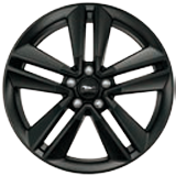 "19"" Ebony Black-Painted Aluminium"