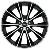 "19"" Low-Gloss Black-Painted Machined Aluminium"