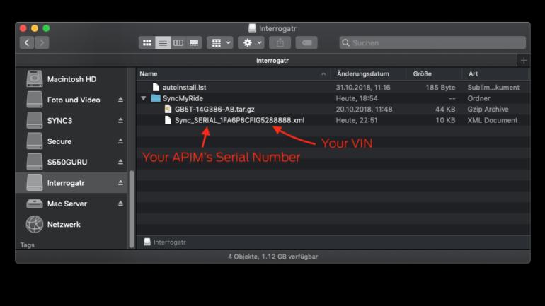 SYNC 3 Update log file created