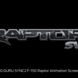 SYNC2 Logos F-150 Raptor SVT Animation Screenshot