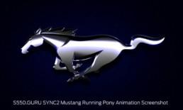 SYNC2 Logos Mustang Running Pony Animation Screenshot